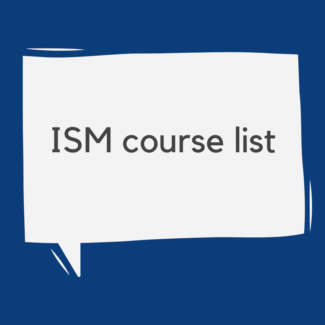ISM course list